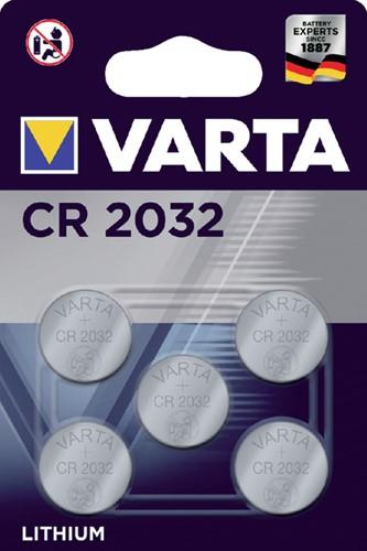 Batterij Varta knoopcel CR2032 lithium blister à 5stuk