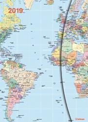 Agenda 2019 teNeues World Maps Magneto 16x22cm