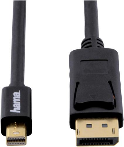 Kabel Hama DisplayPort-USB Mini 180cm zwart