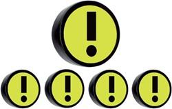 Magneet attentie 35mm geel