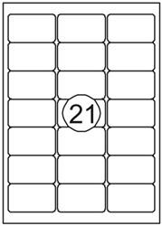 Etiket Quantore 63.5X38.1mm 315stuks