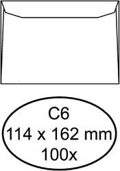 Envelop Quantore bank C6 114x162mm wit 100stuks