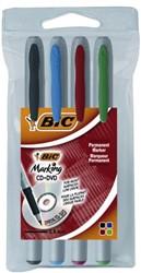 Cd marker Bic assorti zeer fijn 0.7mm etui à 4st