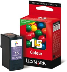 Inkcartridge Lexmark 18C2110E 15 prebate kleur