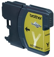 Inkcartridge Brother LC-1100HYY geel HC-2