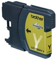 Inkcartridge Brother LC-1100HYY geel HC