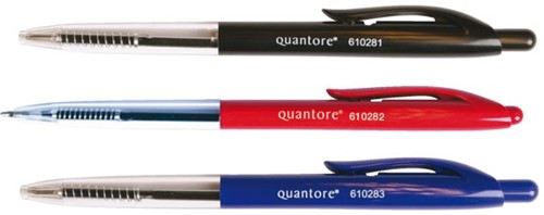 Balpen Quantore drukknop blauw medium-2
