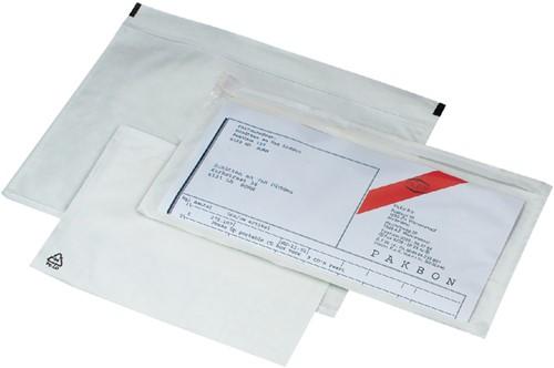 Paklijstenvelop zelfklevend onbedrukt 170x110x25mm 250stuks