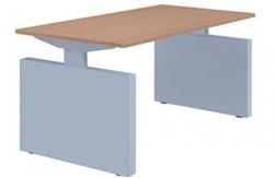 Basic bureau recht met zijwangen - instelbaar 62 - 86 cm - incl. kabelgoot. Blad 25 mm Melamine