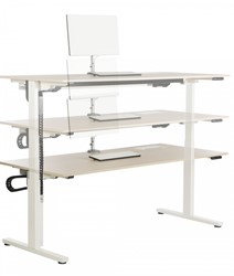 Vepa Edge T zit/sta bureau bladdiepte 80cm elektrisch verstelbaar (64-130cm).