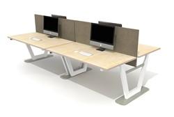 Vepa ParQ vierpersoons bureau zit/sta elektrisch verstelbaar (64-130cm).